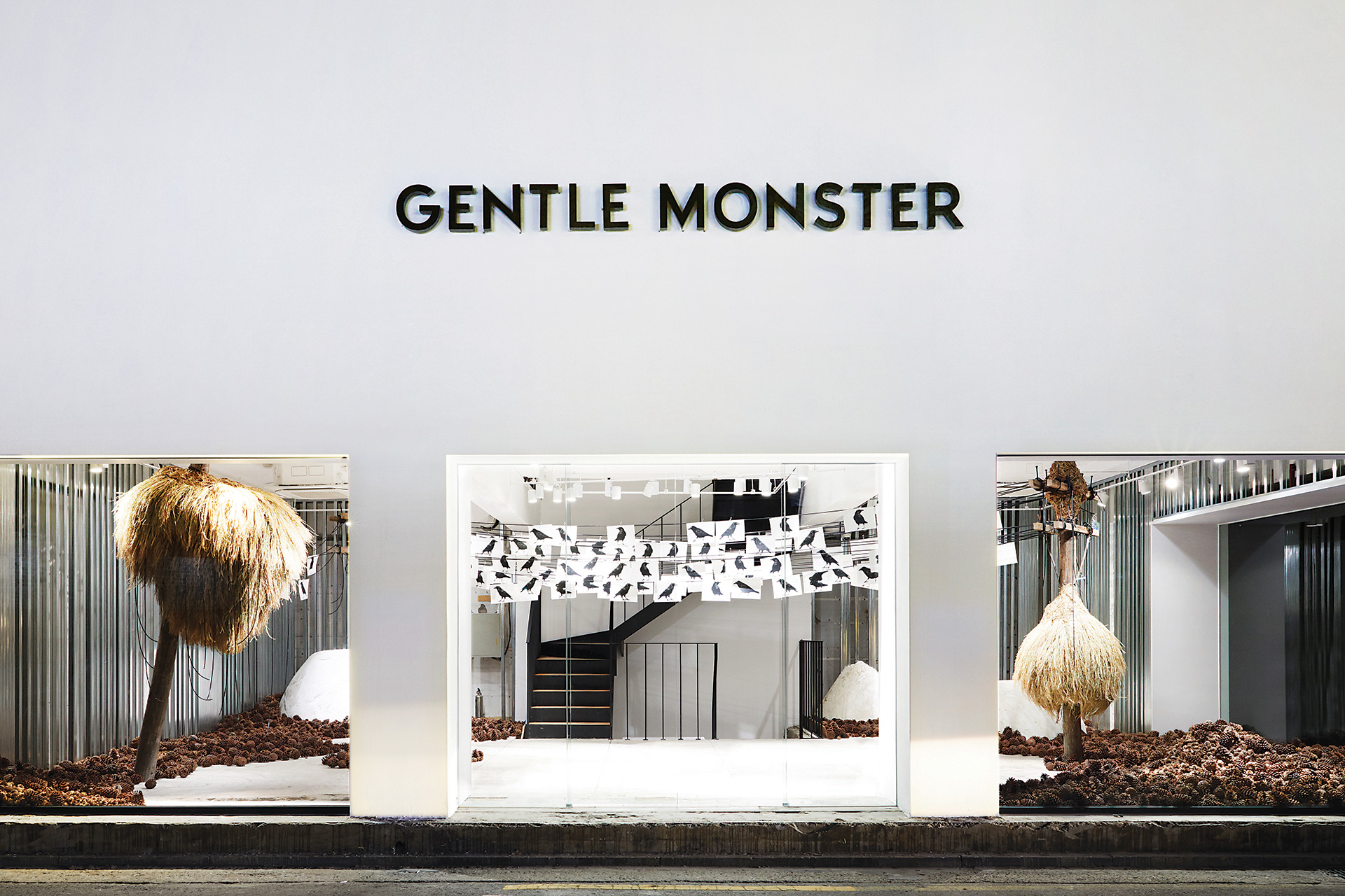 Gentle Monster's flagship store in Garosugil routinely rotates between concepts devised by a highly skilled team of retail merchandisers, photo from Gentle Monster