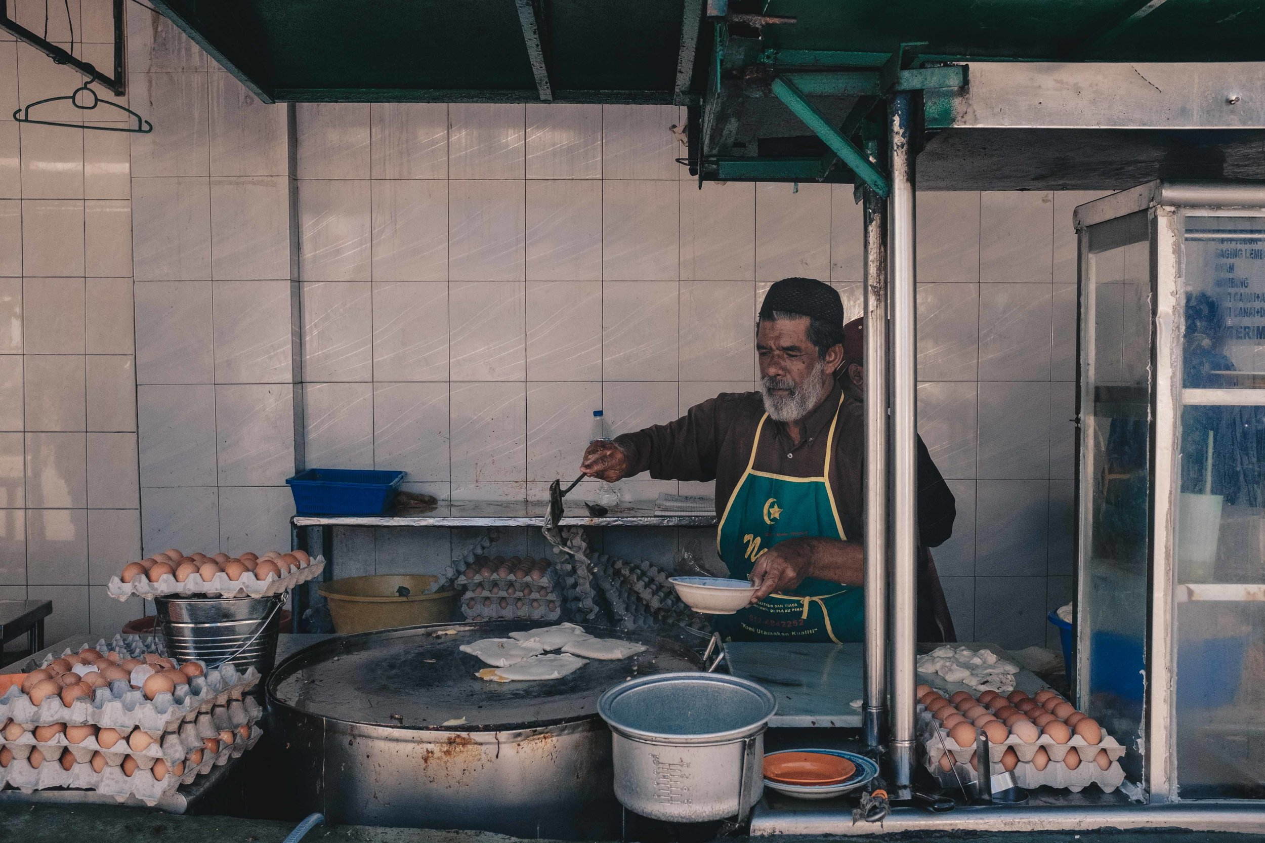 The legendary Roti Canai on Penang's Transfer Road is a must-visit