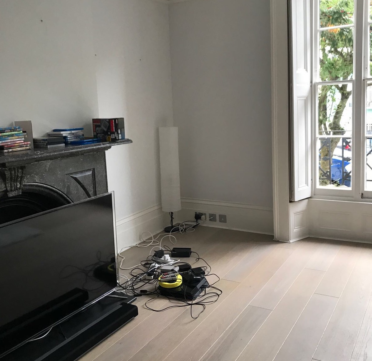 living room -before