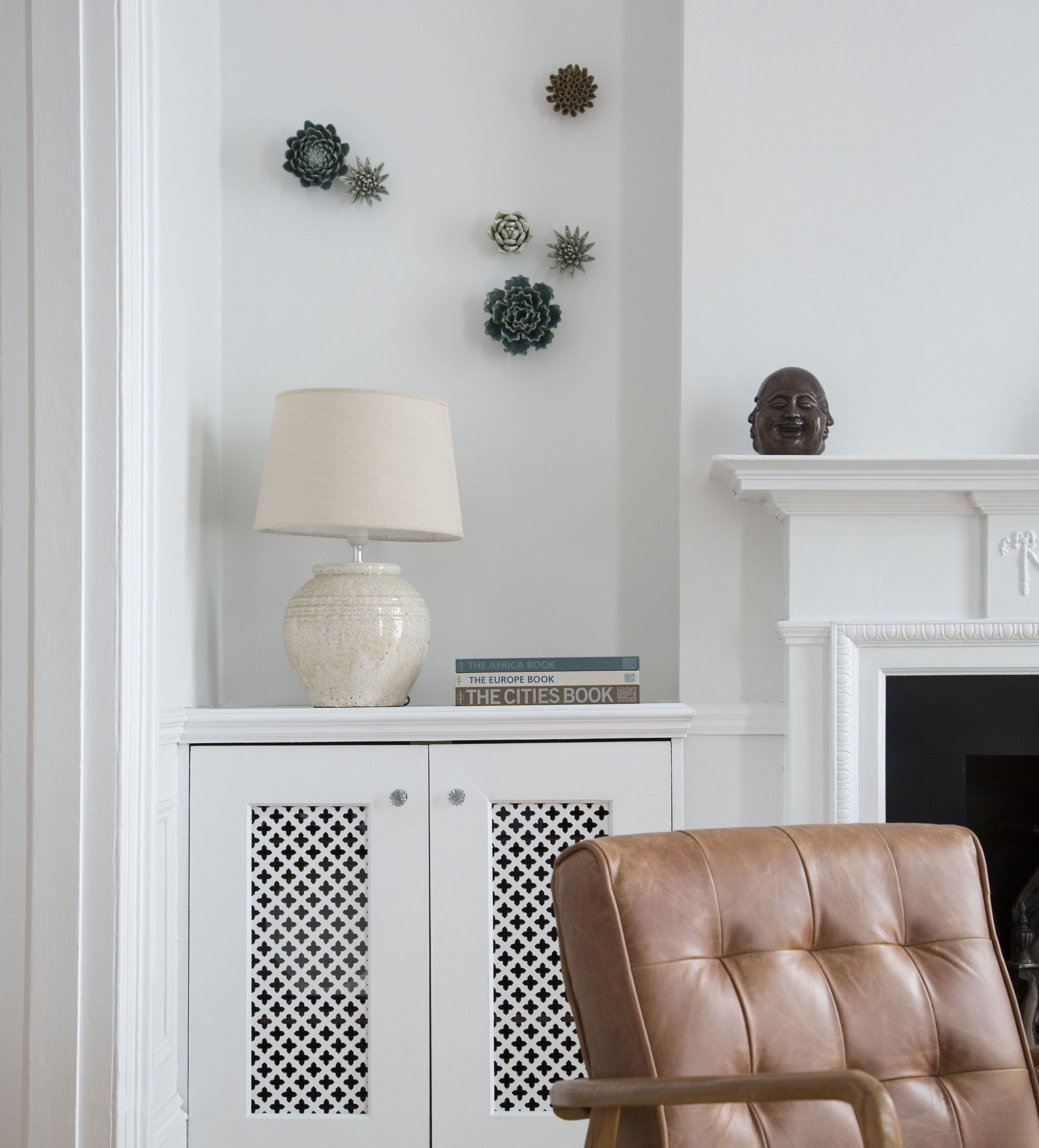 Corner by the fireplace - after