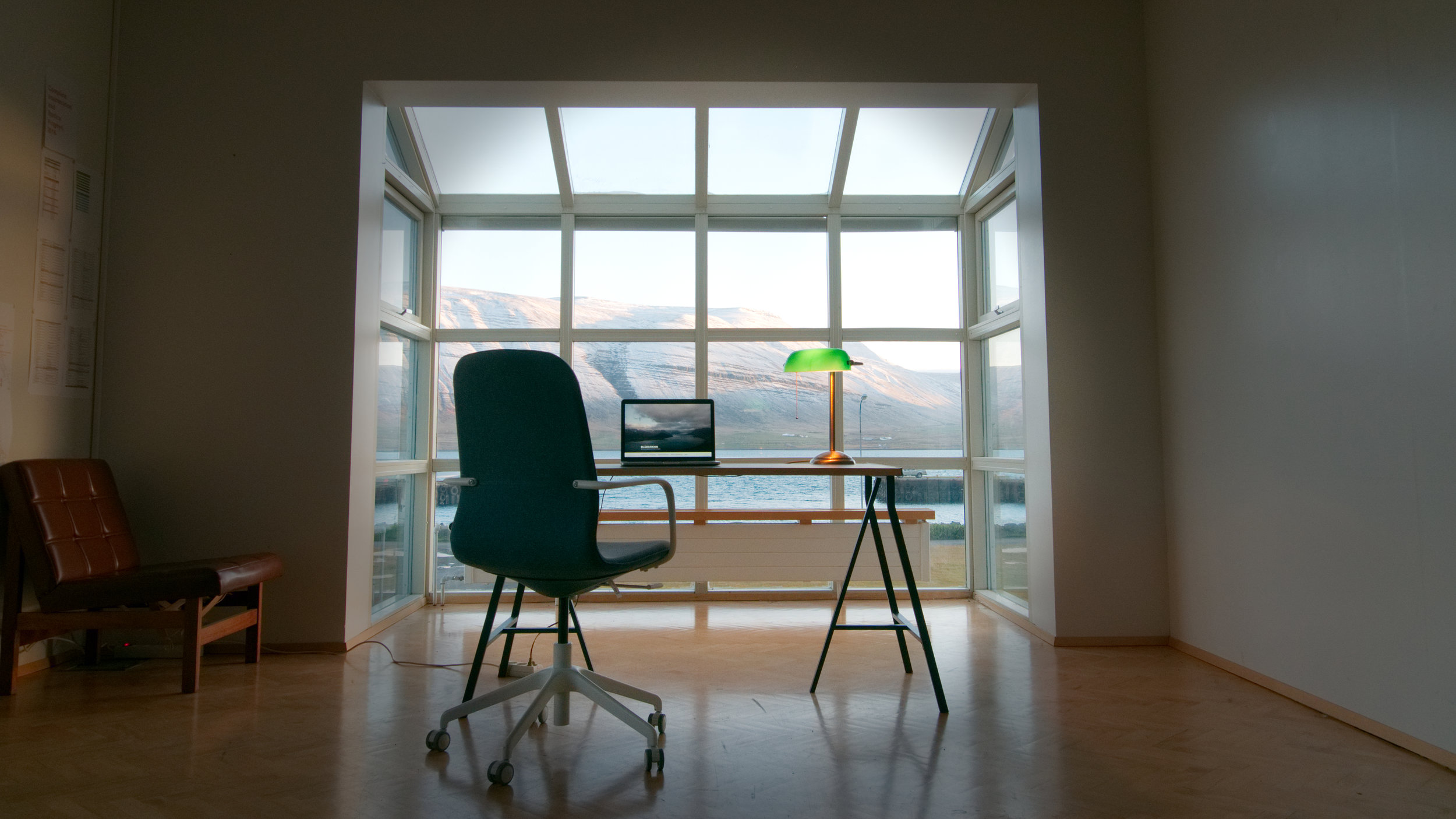 Office chair views!