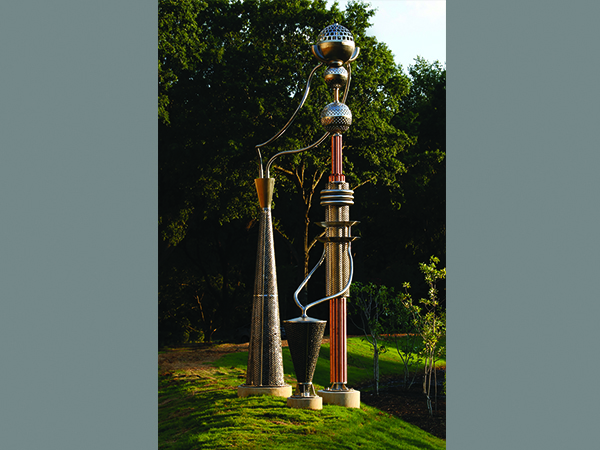 This piece was intended to emphasize the bioretention features incorporated into the project.