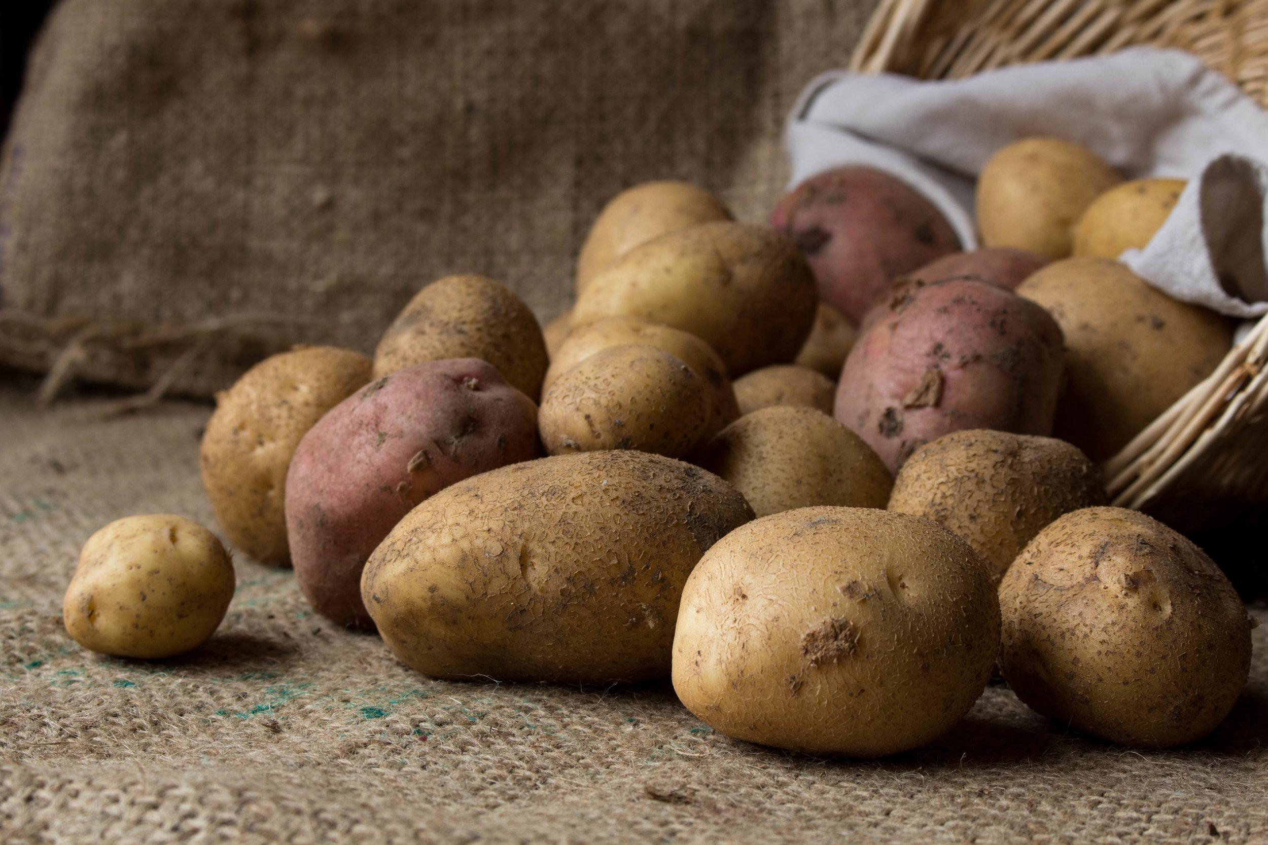 Raw: potatoes