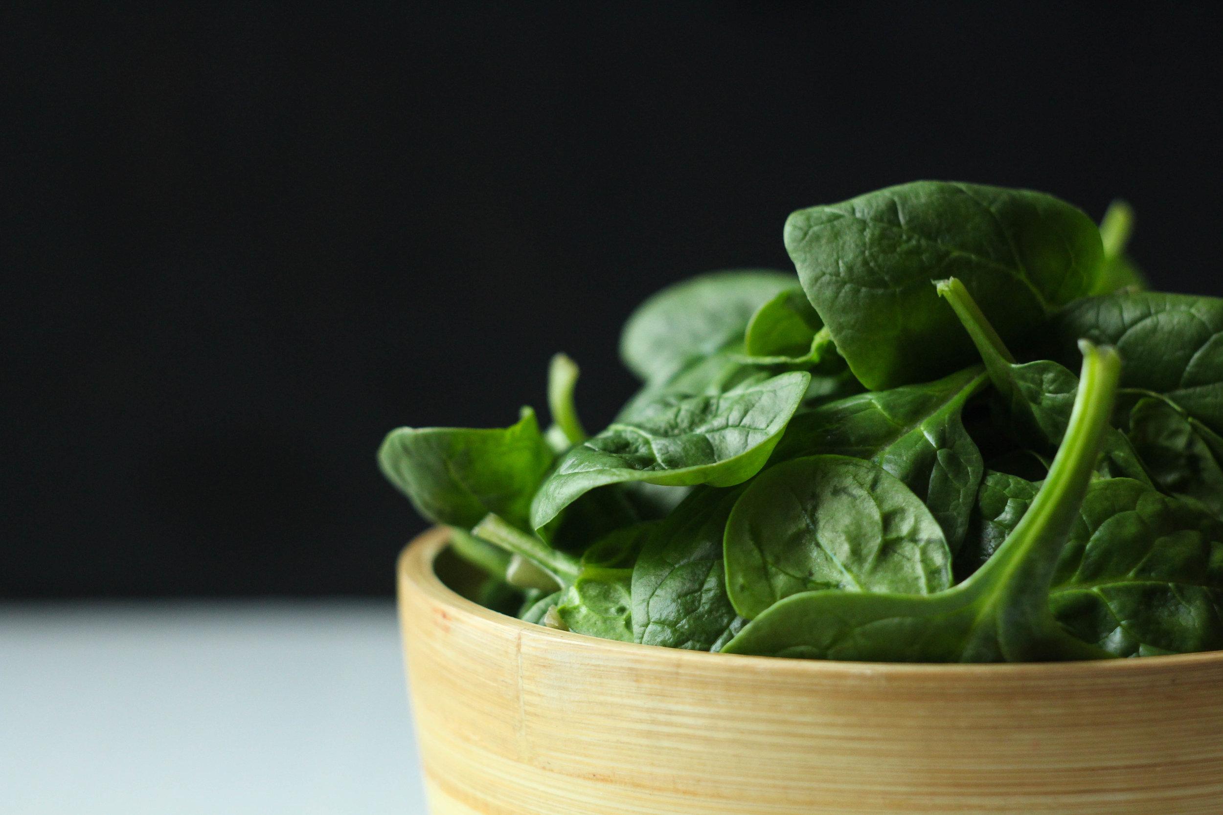 Raw: fresh spinach