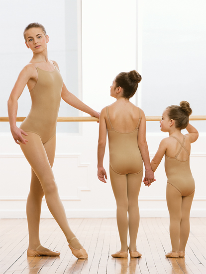 RECITAl UNDERGARMENTS - Tan Camisole Leotards