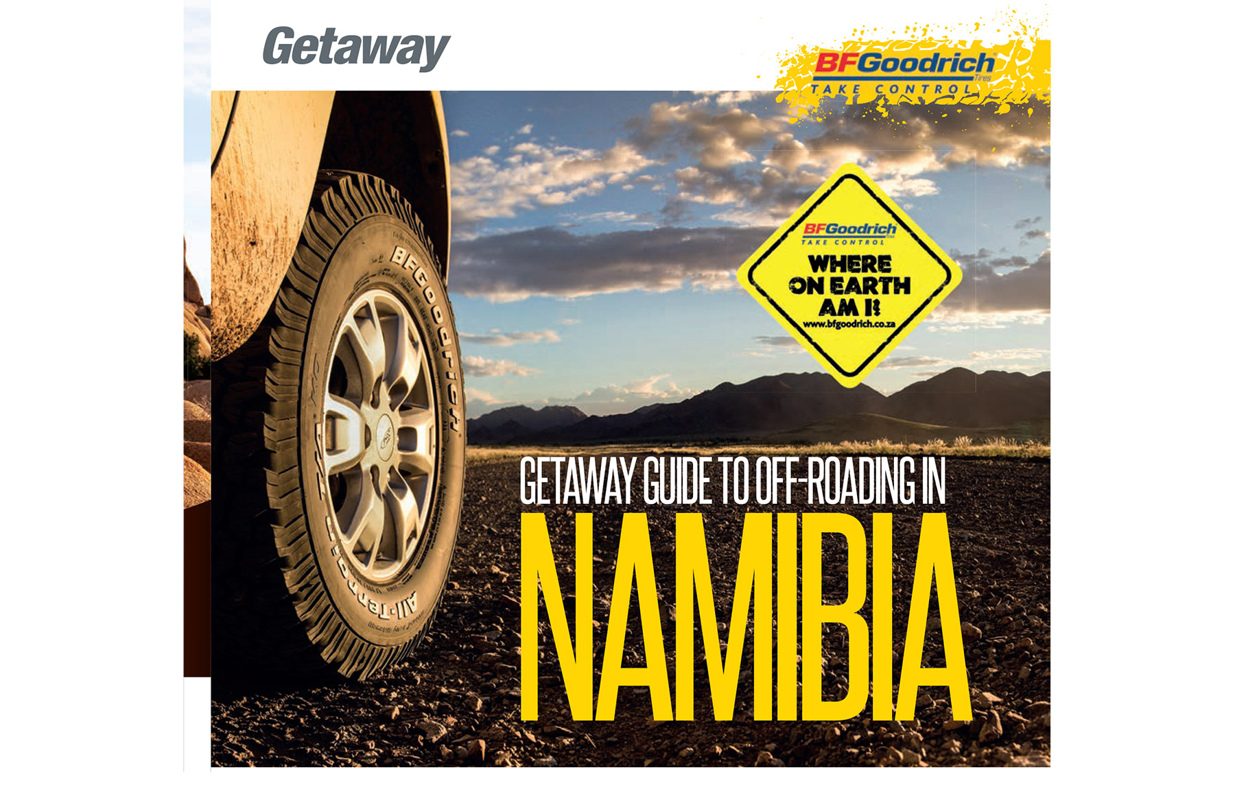 Getaway Magazine - Getaway guide to the best 4x4 routes, national parks and campsites in Namibia, co-authored with Cameron Ewart-Smith for Getaway magazine and BFGoodrich.