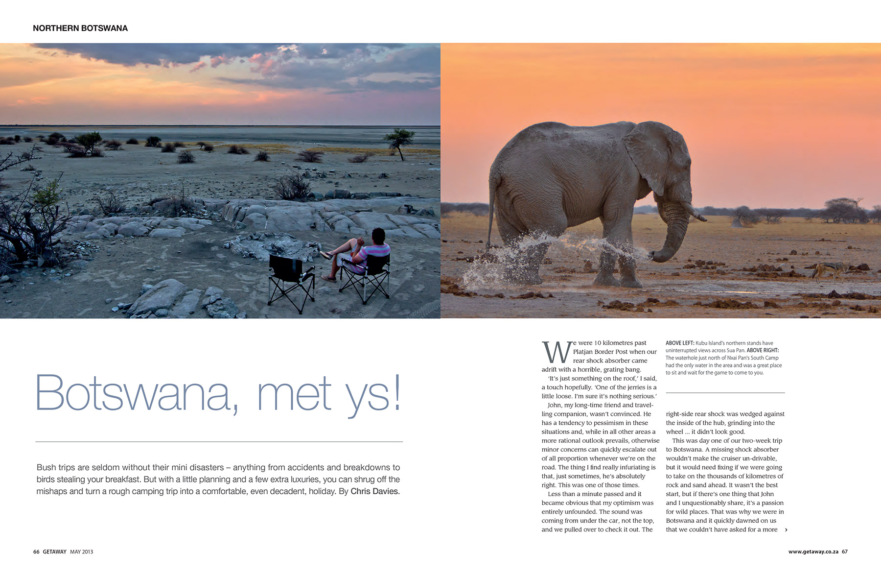 Getaway Magazine - The best of Botswana in a two-week camping trip.
