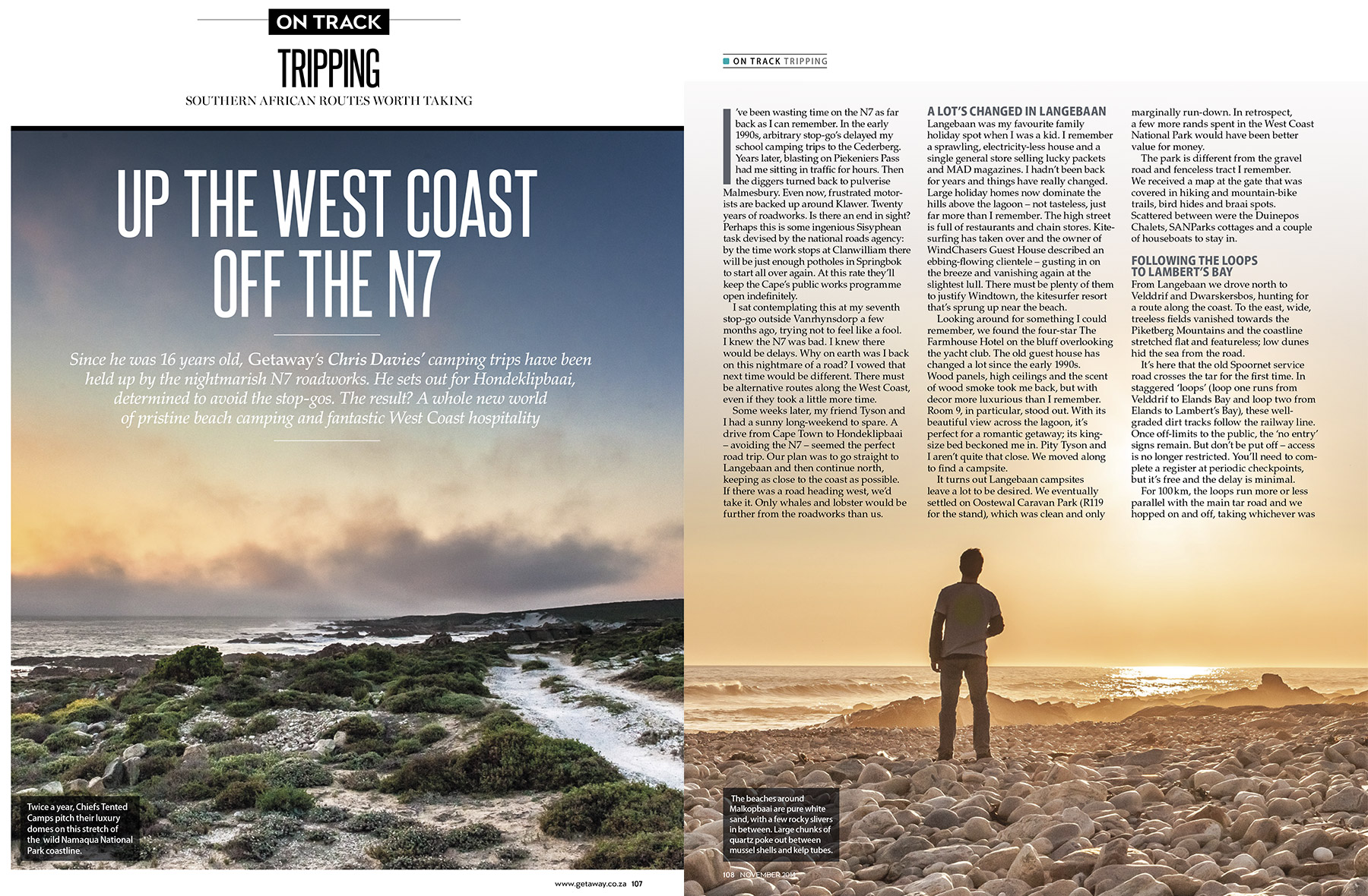 Getaway Magazine - A beach-camping road trip along South Africa's gorgeous West Coast.
