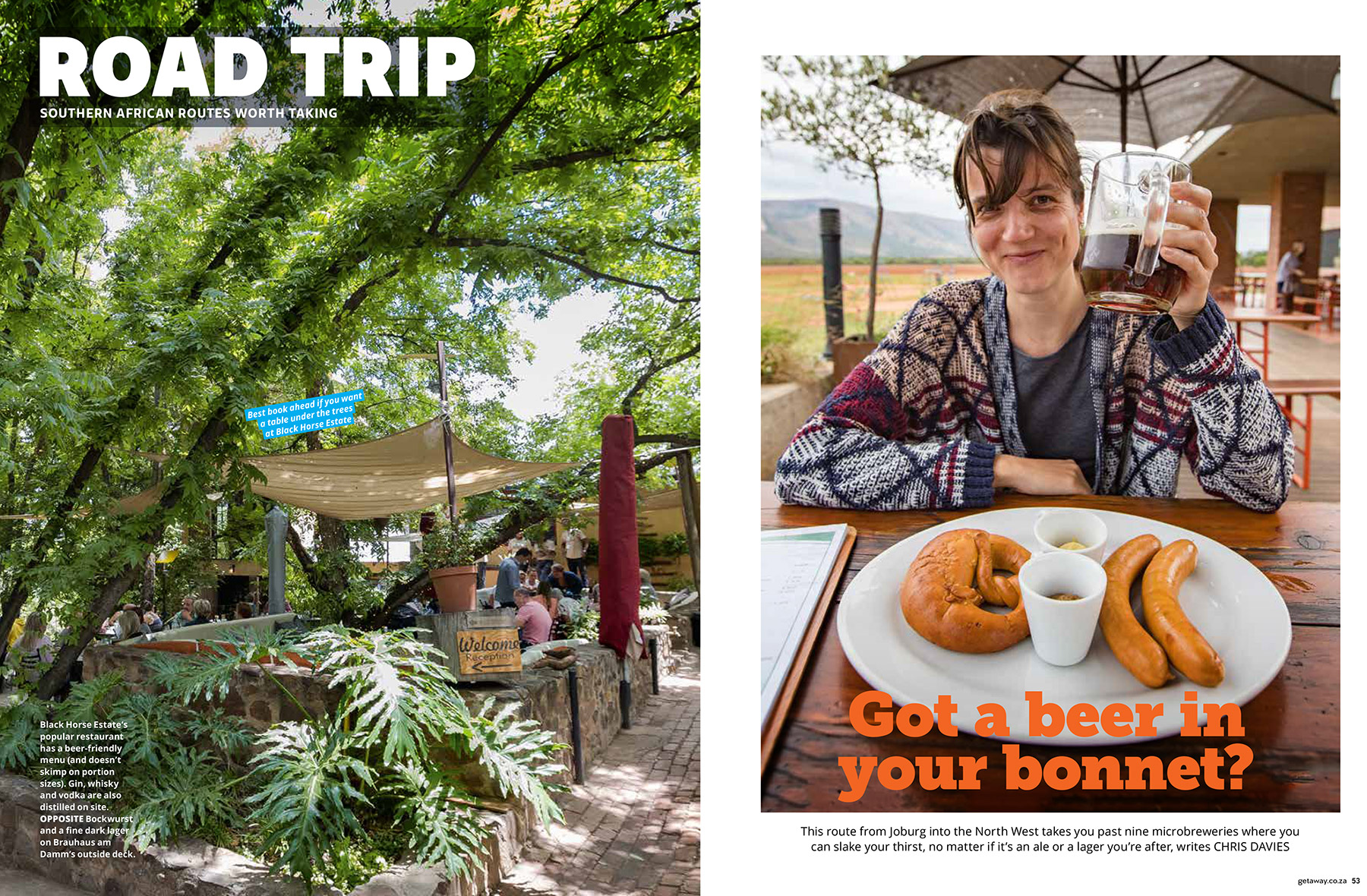 Getaway Magazine - In search of the best craft beer in South Africa.