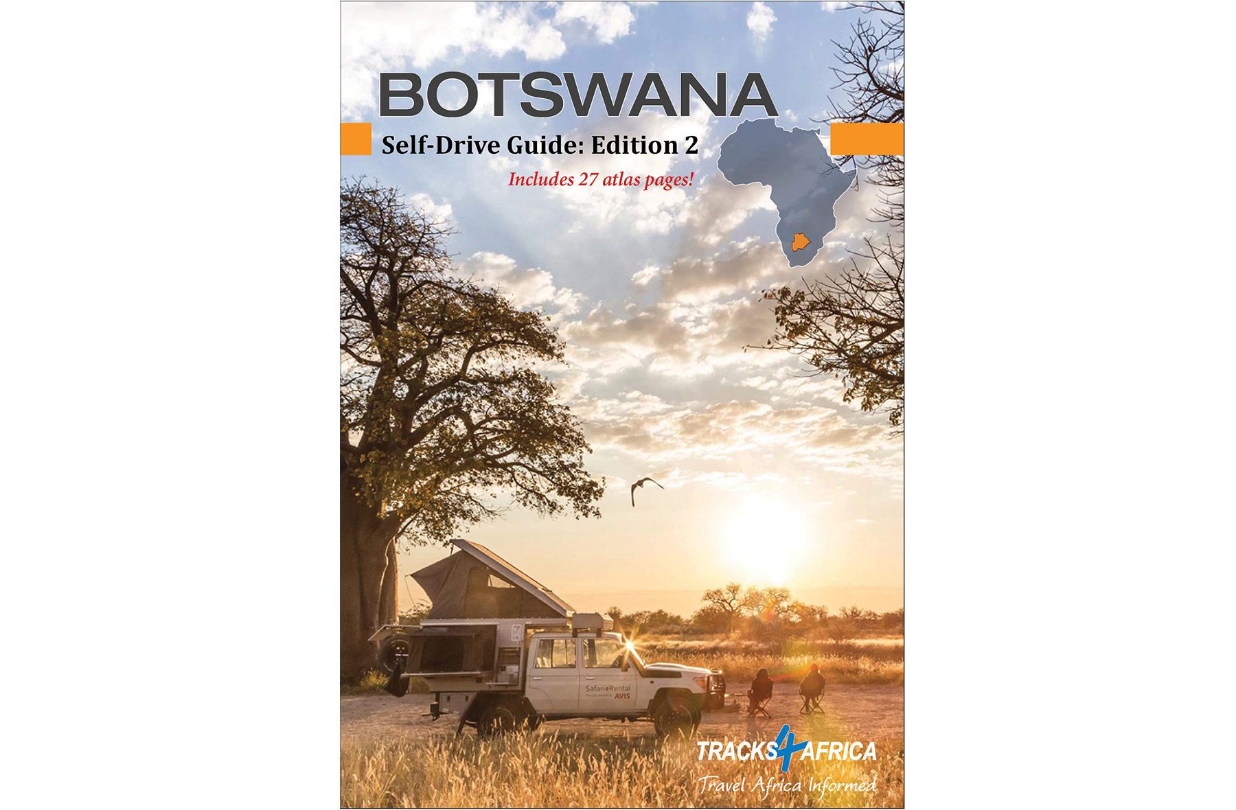 Tracks4Africa - Botswana Self-Drive Guide Book Cover Image