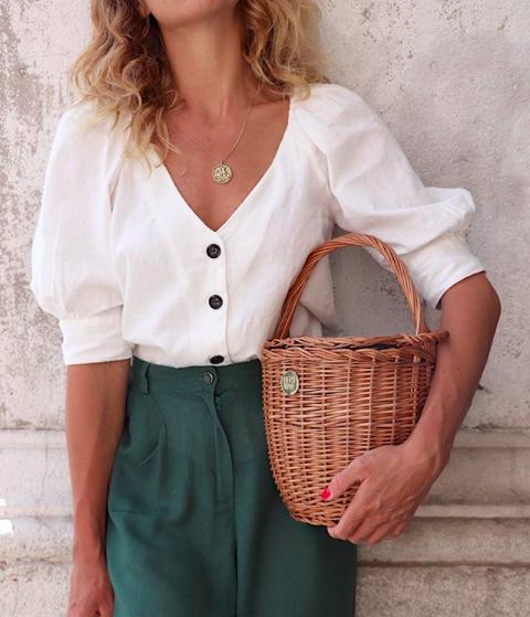 Hers Wave Nice basket bag