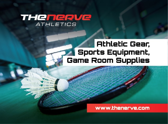 The Nerve Athletics - supplying athletic gear,  game room supplies and sports equipment.