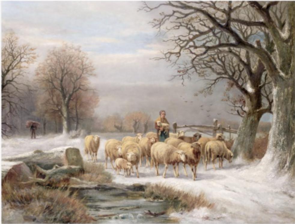 Ornement médaillon de Noël Dame Blanche