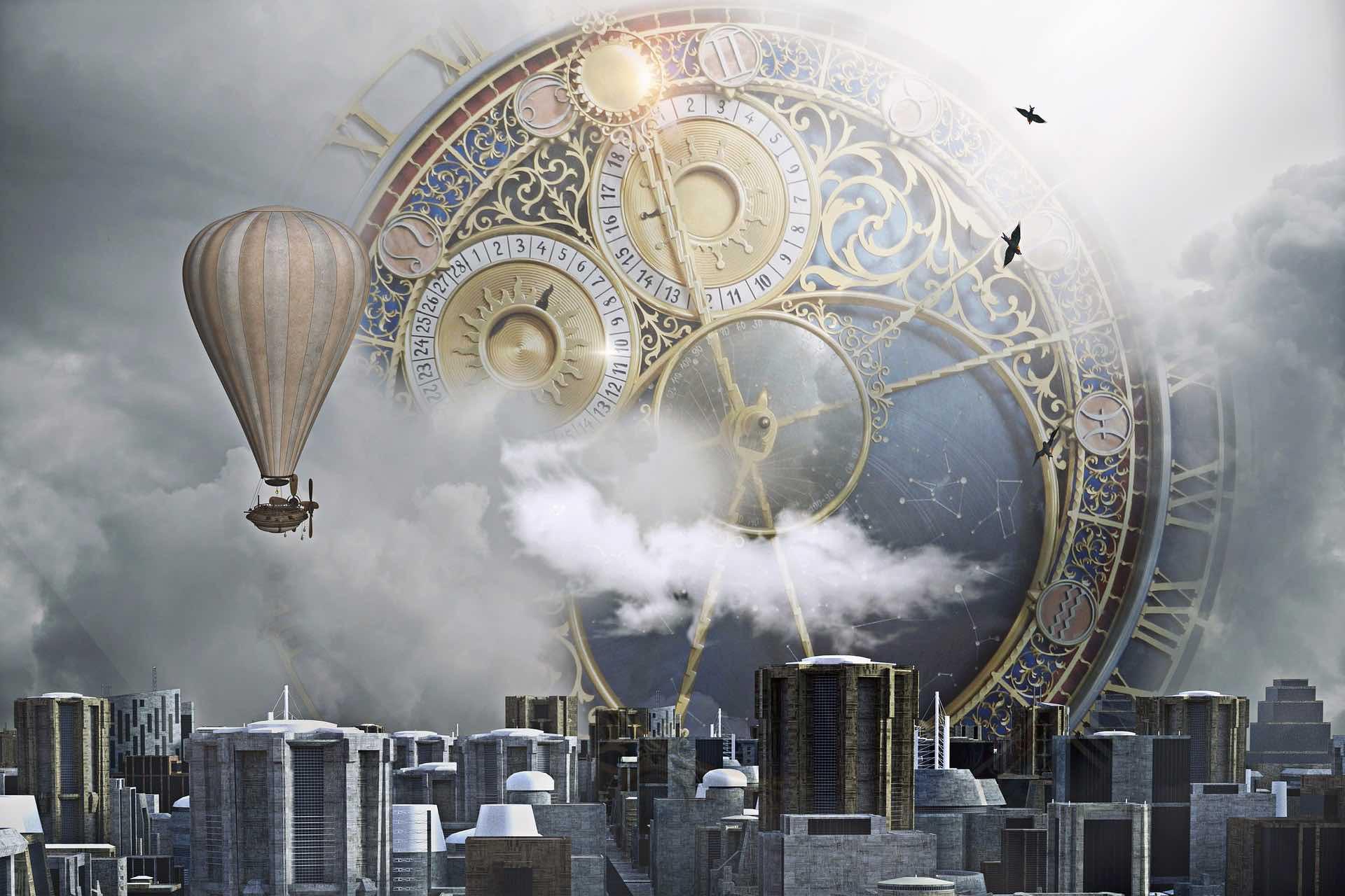 vision village steampunk pour la série Andromède Dream