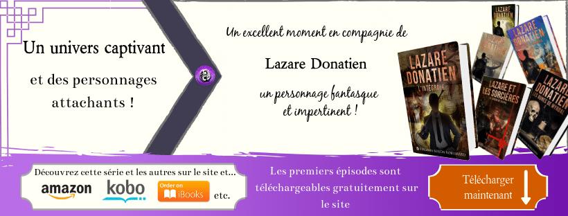 Bannière de présentation pour la série Lazare Donatien