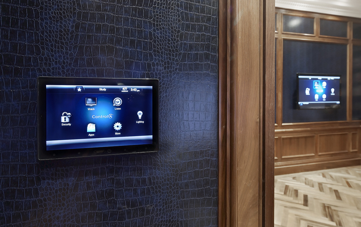 Touch Panel Control 4 and TV