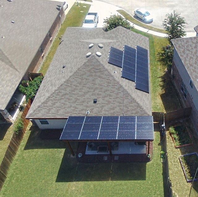 30% tax credit, no down payment, 100% green! Make your solar panels work for you by powering your home and shading your patio! #texas #solar #renewable #cowtown