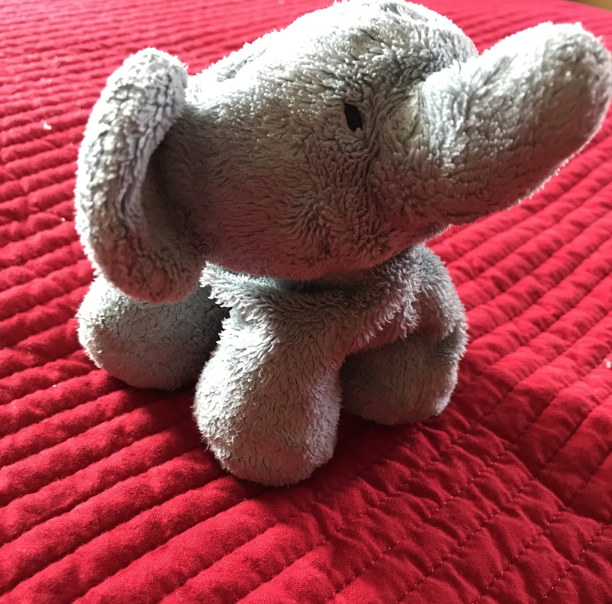 Why Blue Elephant - Meet Blue.  The little blue elephant who has traveled with us everywhere since my son was born.  He and the little guy that loves him so were the inspiration for our name.