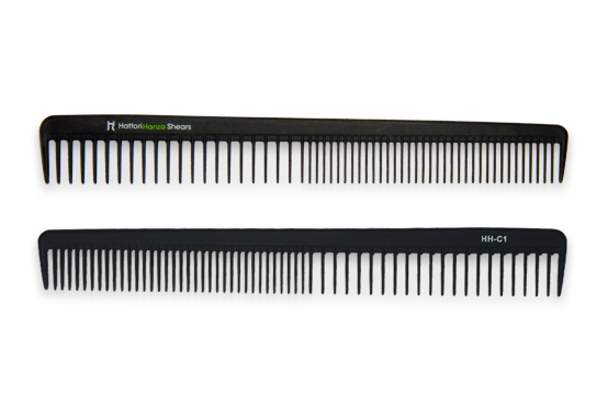 Hattori Hanzo HHC1 Carbon Comb - Long, sturdy, and wide teeth perfect for the longest lengths of hair