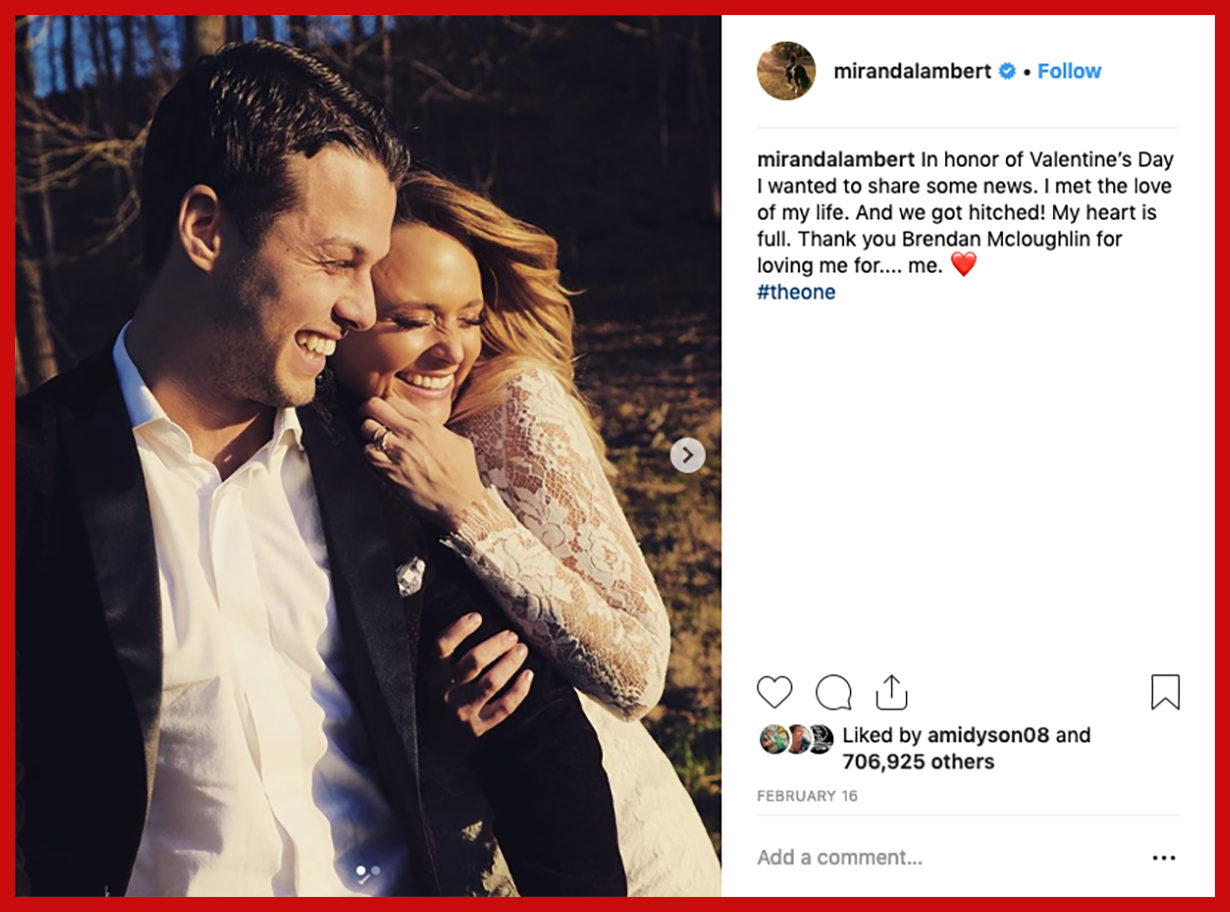 click here to       see miranda's post on Instagram