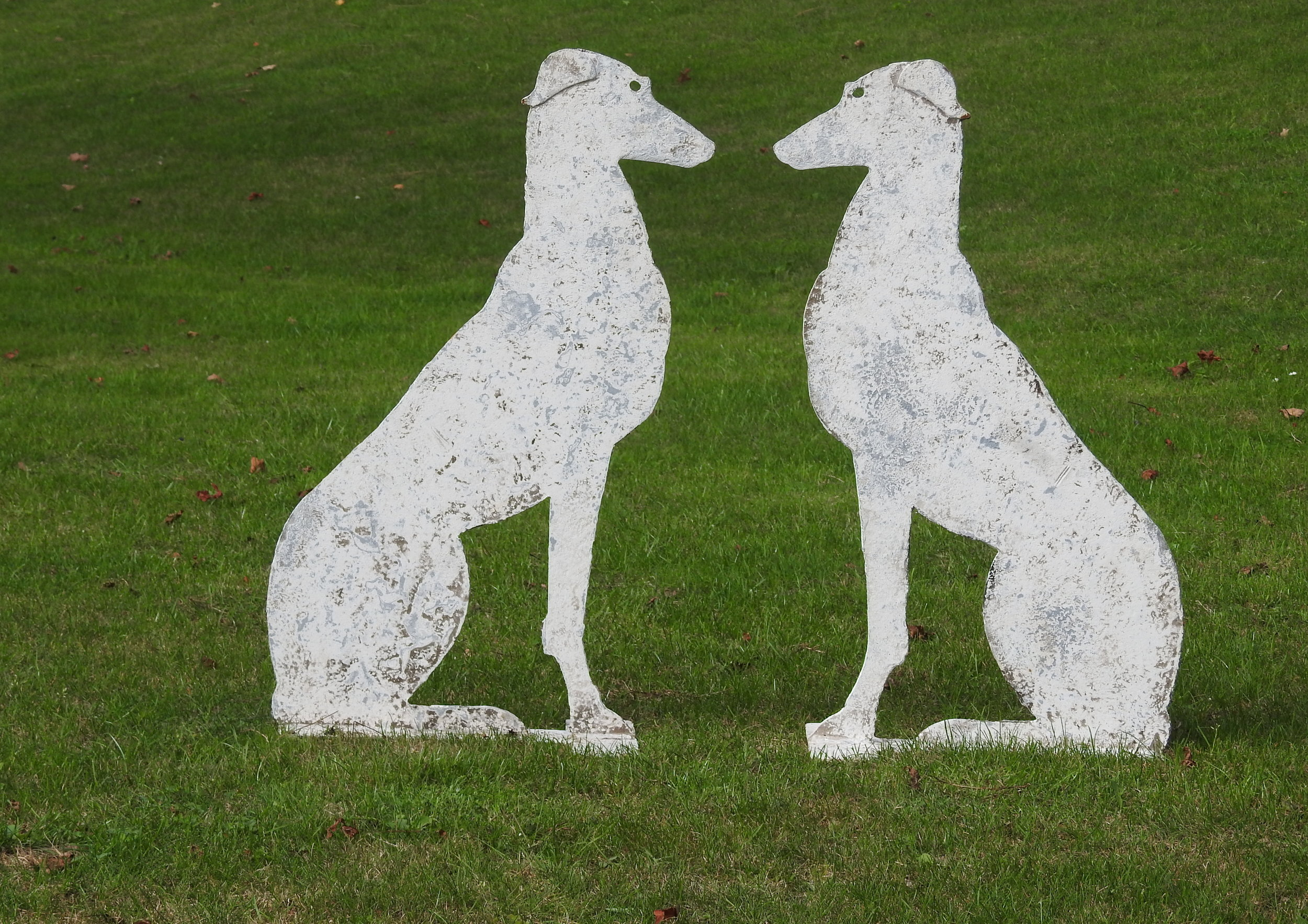 Seated Greyhounds - £395 - 80 x 48cm