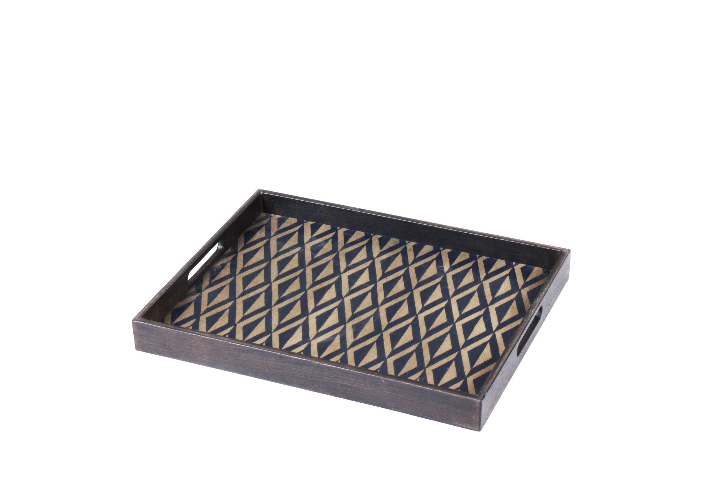 Indigo Diamond small driftwood tray - £84 - 36 x 46cm