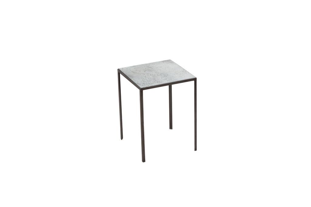 Heavy Aged Mirror Table - £159 - 31 x 31 x H: 41cm