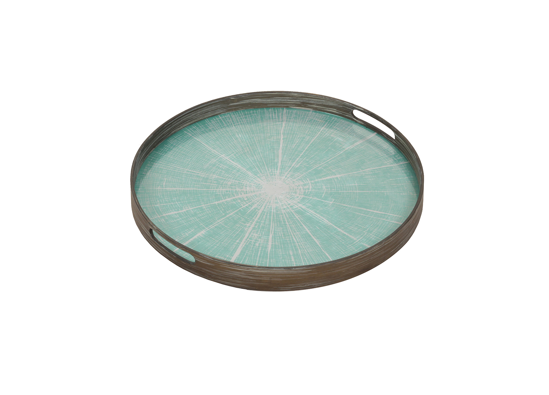Blue Slice small glass tray - £117 - 48 x 48cm