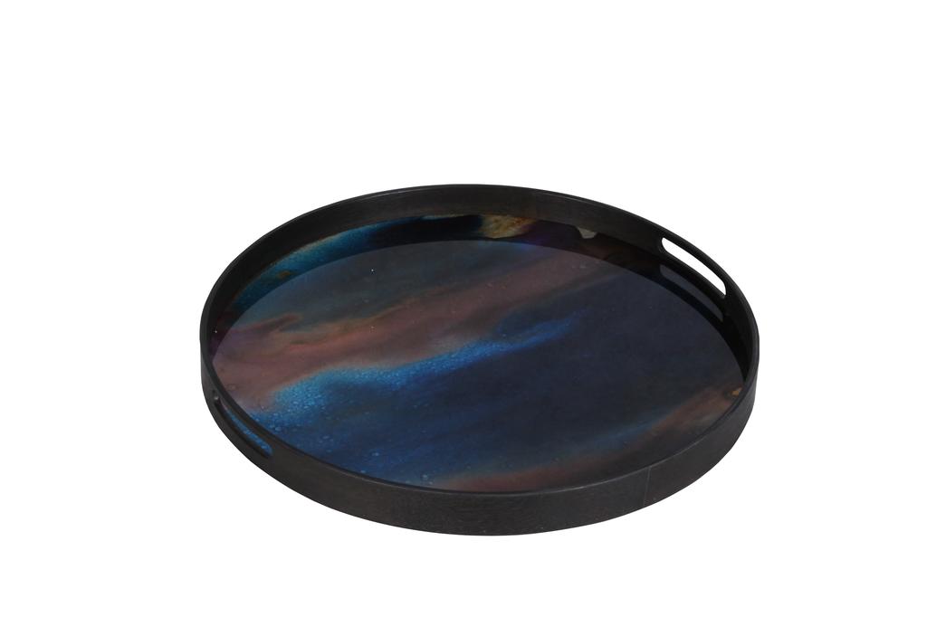 Indigo Organic small glass tray - £117 - 48 x 48cm