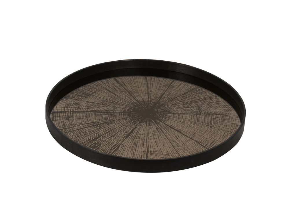 Bronze Slice large mirror tray - £159 - 61 x 61cm