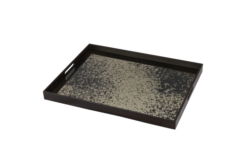 Heavily Aged Bronze large mirror tray - £159 - 36 x 46cm