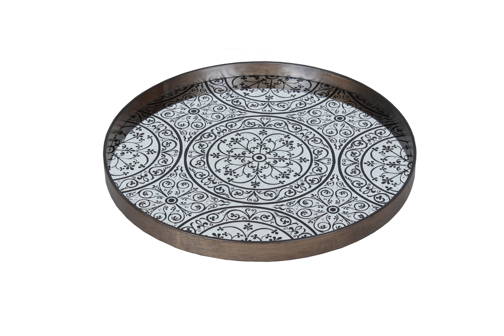 Moroccan Chocolate large mirror tray - £159 -