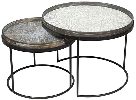 Low round table set - £325Trays not included - Large - 62 x H: 38cmSmall -49 x H: 31cm