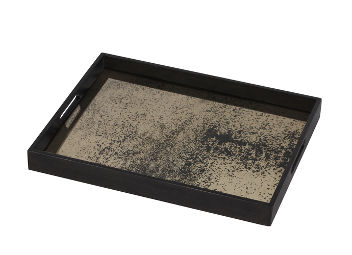 Heavy Aged Bronze small mirror tray - £110  46 x 61cm