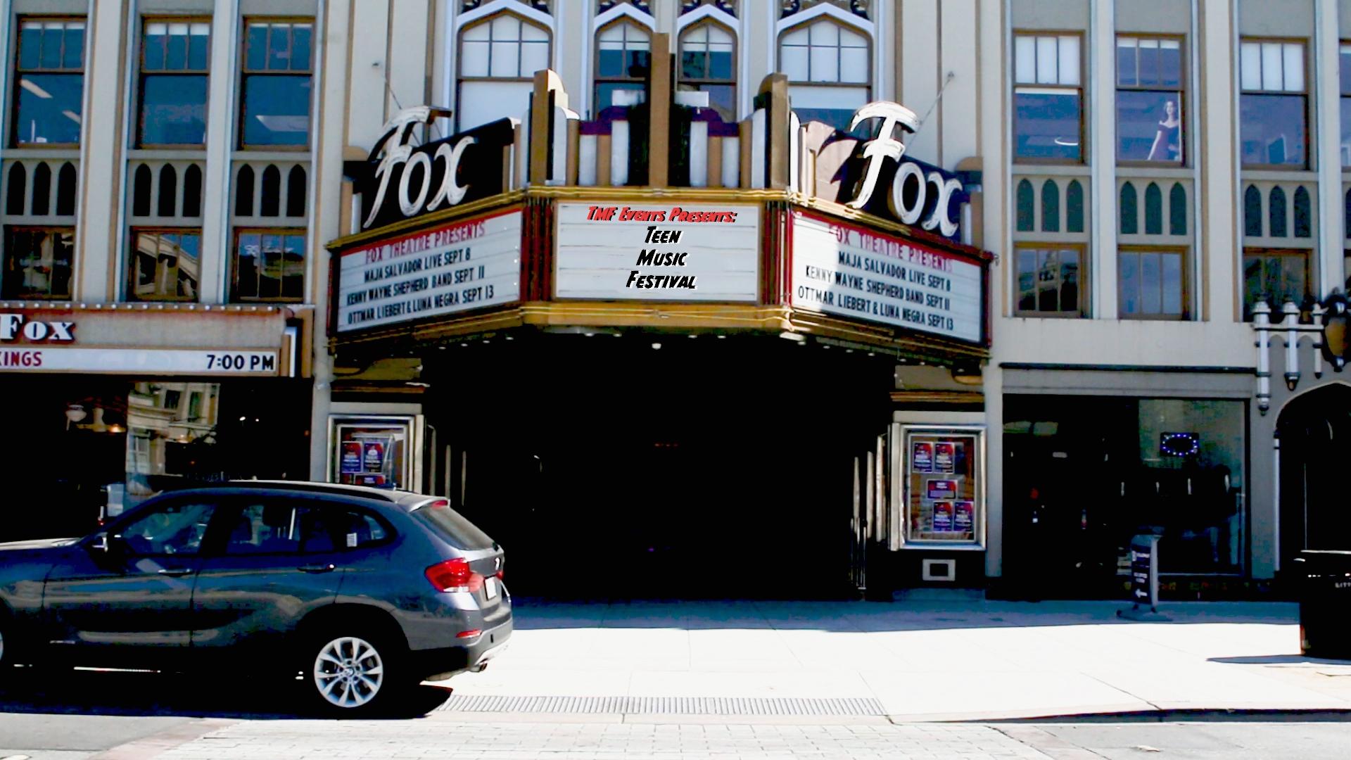 Teen Music Festival 1 - September 7th, 2018Fox TheatreRedwood City, CA