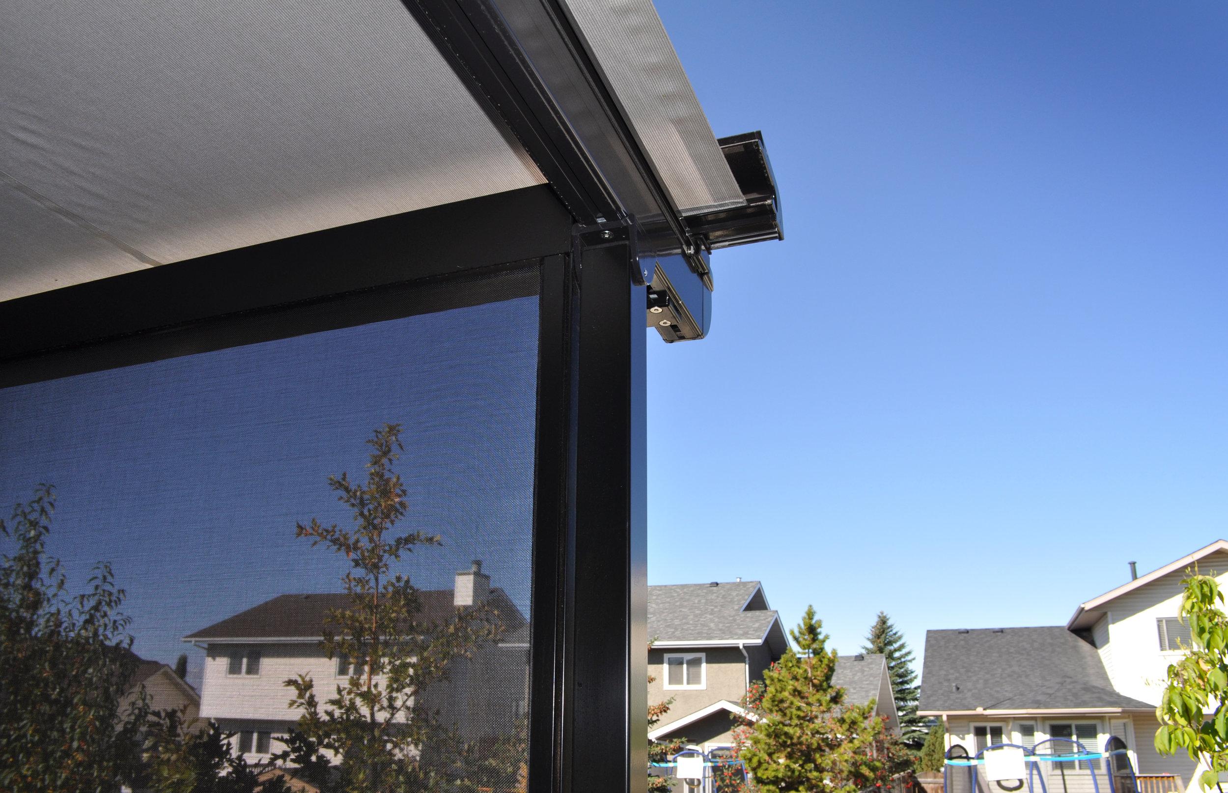 pergola solar screen shade calgary