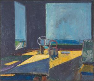 Richard Diebenkorn, Interior with Ocean View, 1957