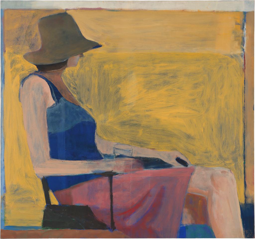Richard Diebenkorn, Figure with Hat, 1967