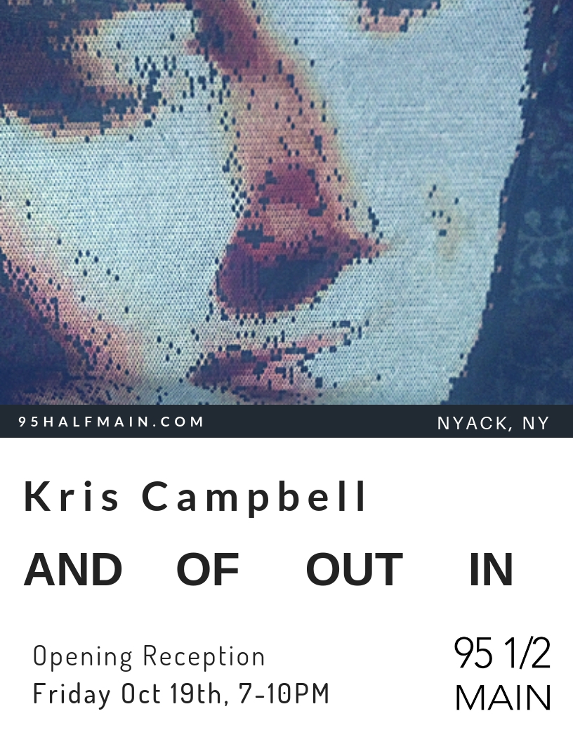 Join us as for the Launch of 95 1/2 MAIN's One Year Anniversary Exhibition & Events Season  A wine reception for Kris Campbell, a 95 1/2 MAIN Artist, celebrating her Debut Solo Show.