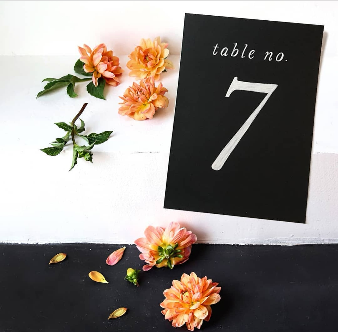 Chalk Table Numbers