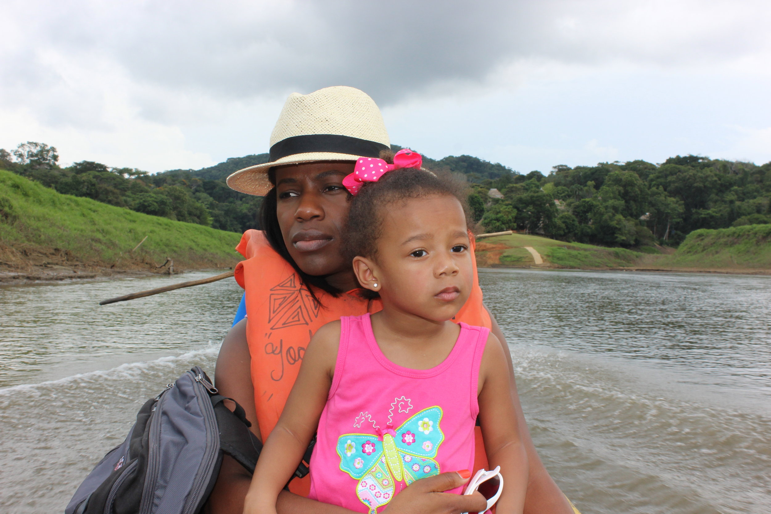 Chagres River with toddler