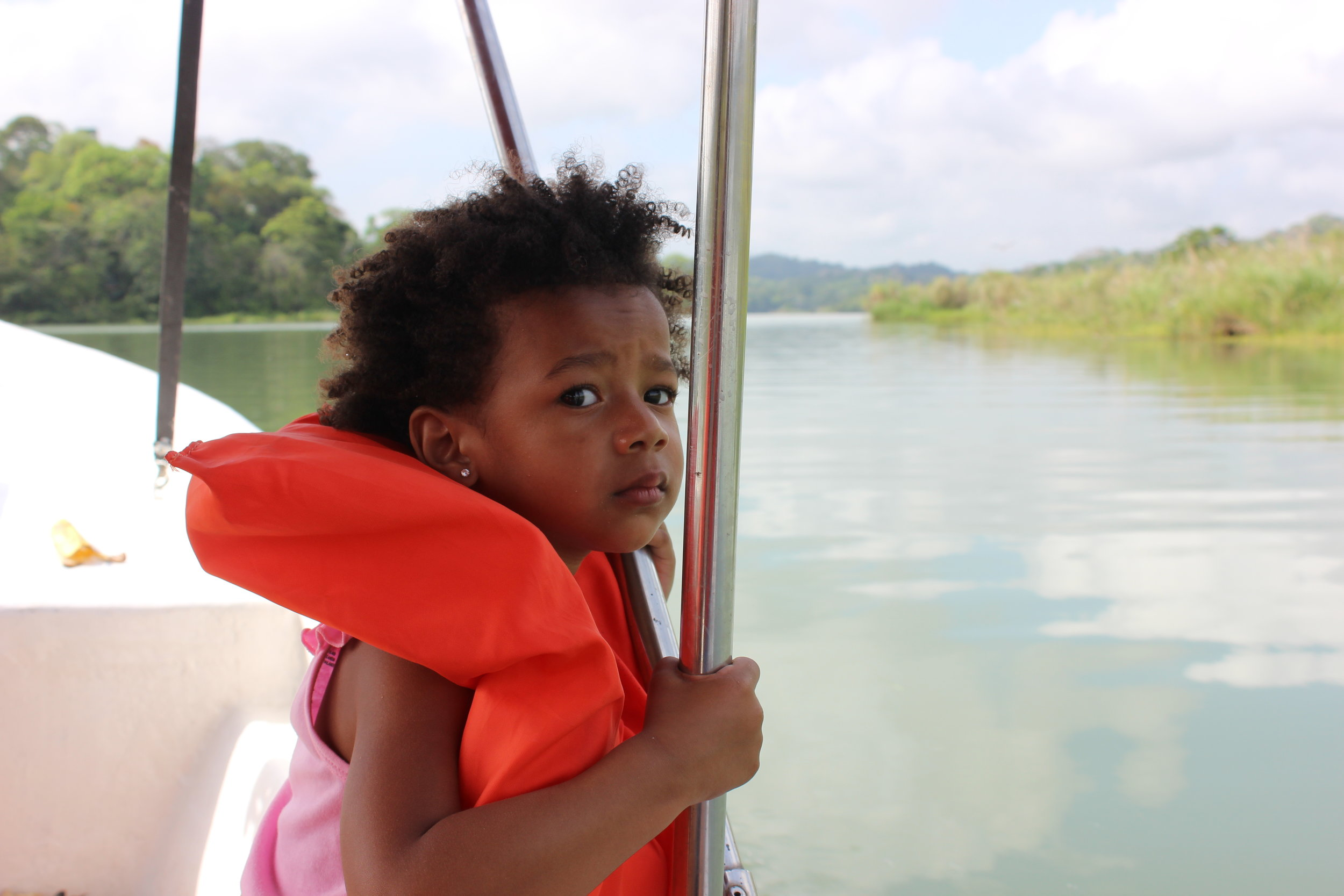 Toddler on Gatun Lake