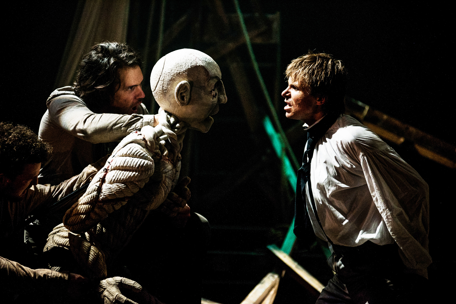 """Ben Warwick's portrayal of Frankenstein's growing psychosis and self-destruction is never over-played. His mercurial energy never wavers throughout the many stages leading to Frankenstein's inevitable cataclysmic end and the production benefits greatly from such a robust performer its central role."""