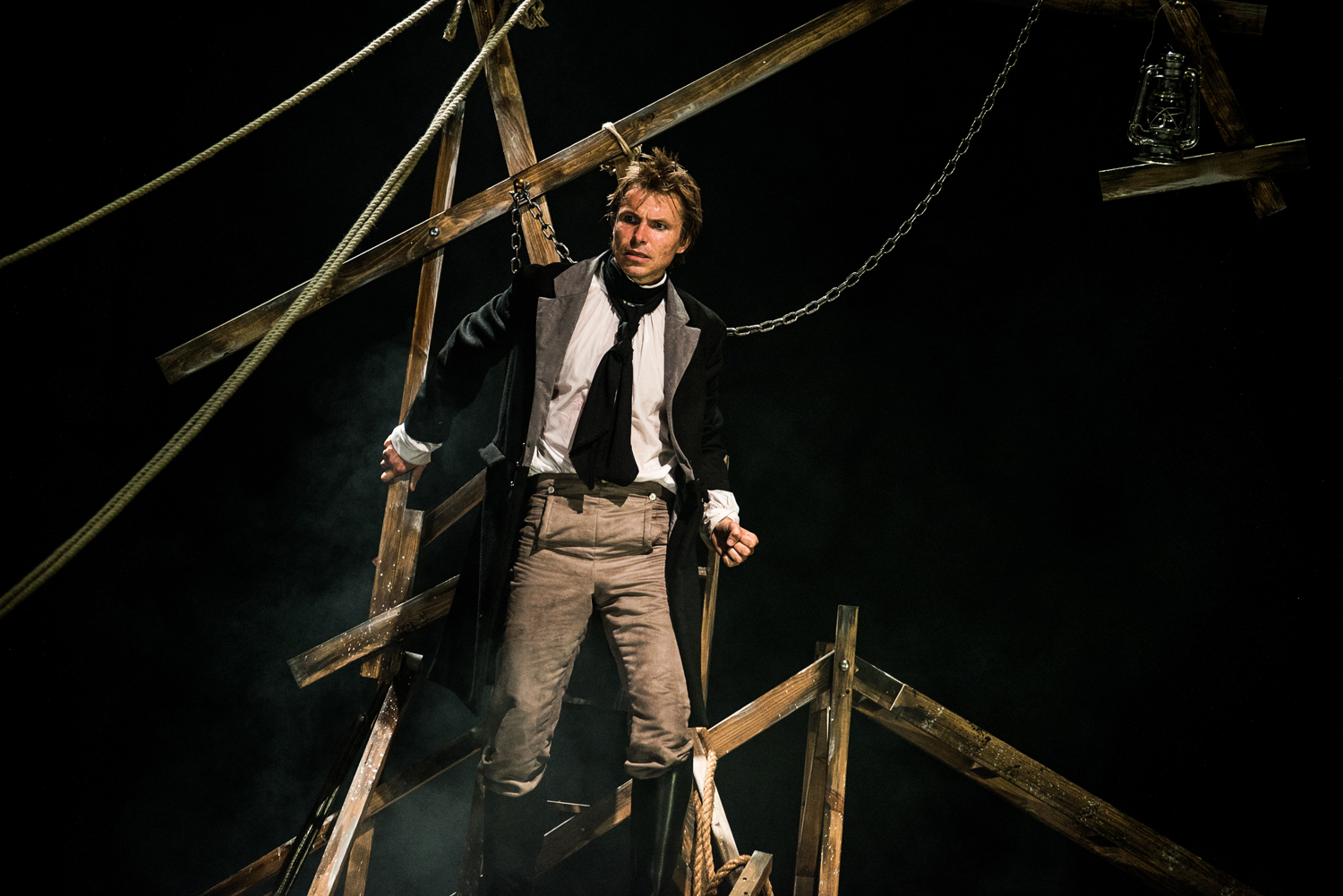 """There are two obvious essentials for a successful production – Victor Frankenstein himself and his Creature. Ben Warwick is a commanding presence as Frankenstein, playing the deity-defying scientist with a gripping, ever-increasing intensity as his life unravels…the production is powered by the electricity of Warwick's central performance."""