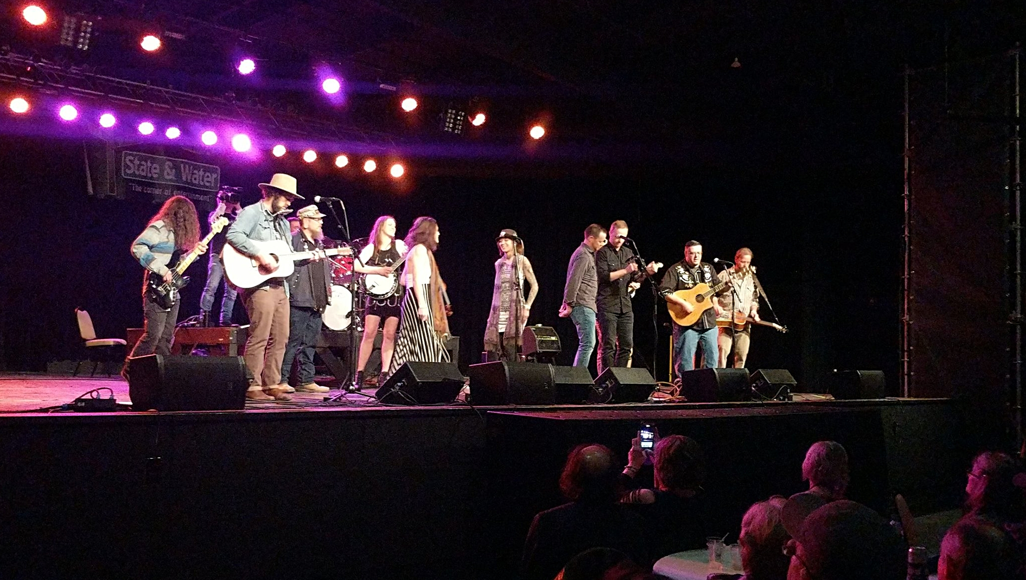 "All four bands took to the stage at the end of the night to sing ""Weight."" You can find the video on our YouTube page."