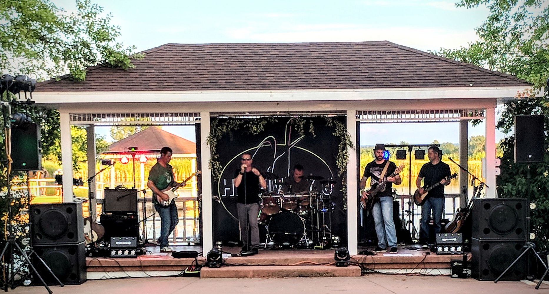 Highway J at Mackinaw Valley Winery