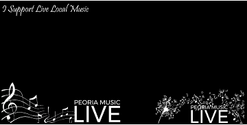 You can also get these frames for your Facebook Profile Picture! Just search for Peoria Music Live when you add a frame to your picture.