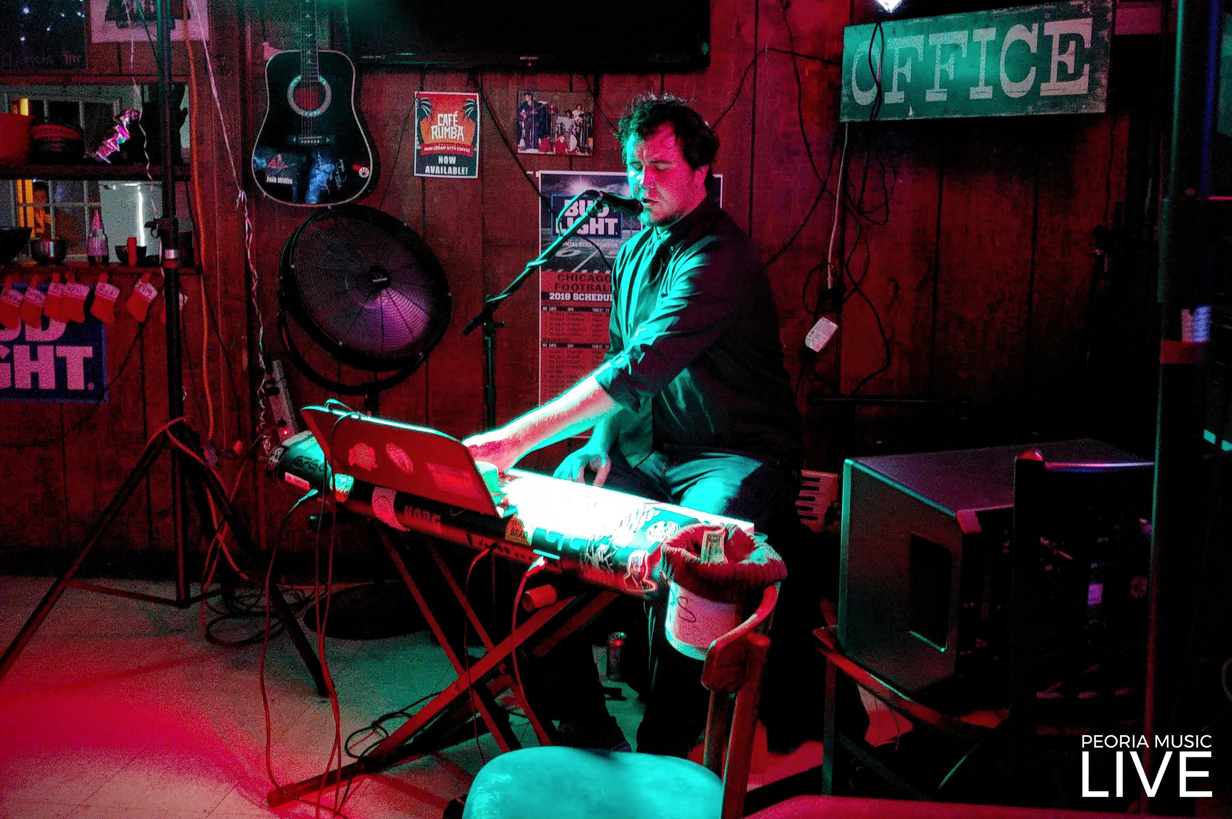 Piano Man Chris Tarpley on NYE at Office on Main in Morton