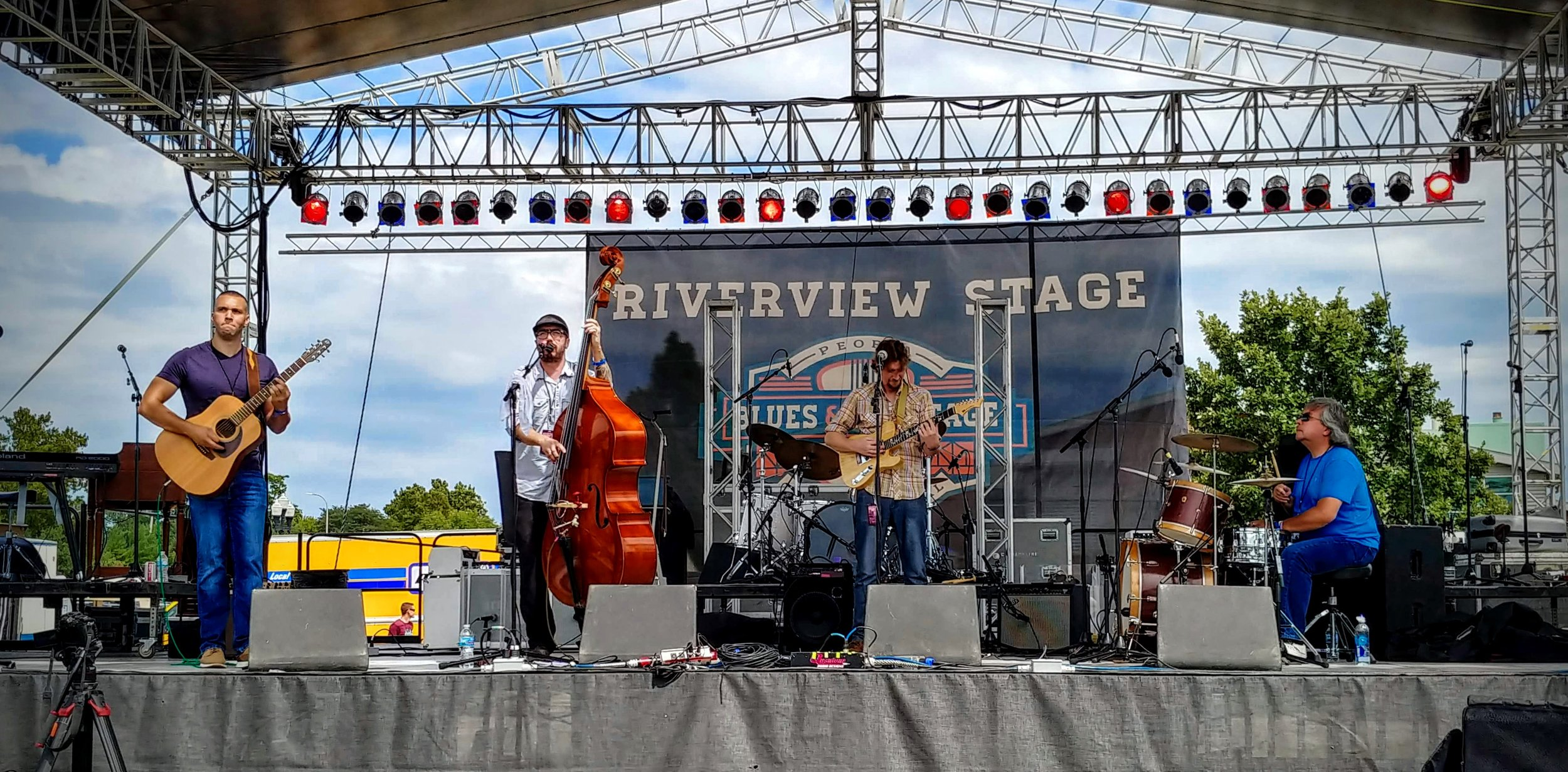 Hollow Down was the first band on the Riverview Stage on Saturday at the Peoria Blues & Heritage Festival. I love when I can make it early in the day and encourage people with great music and letting them know what's happening!