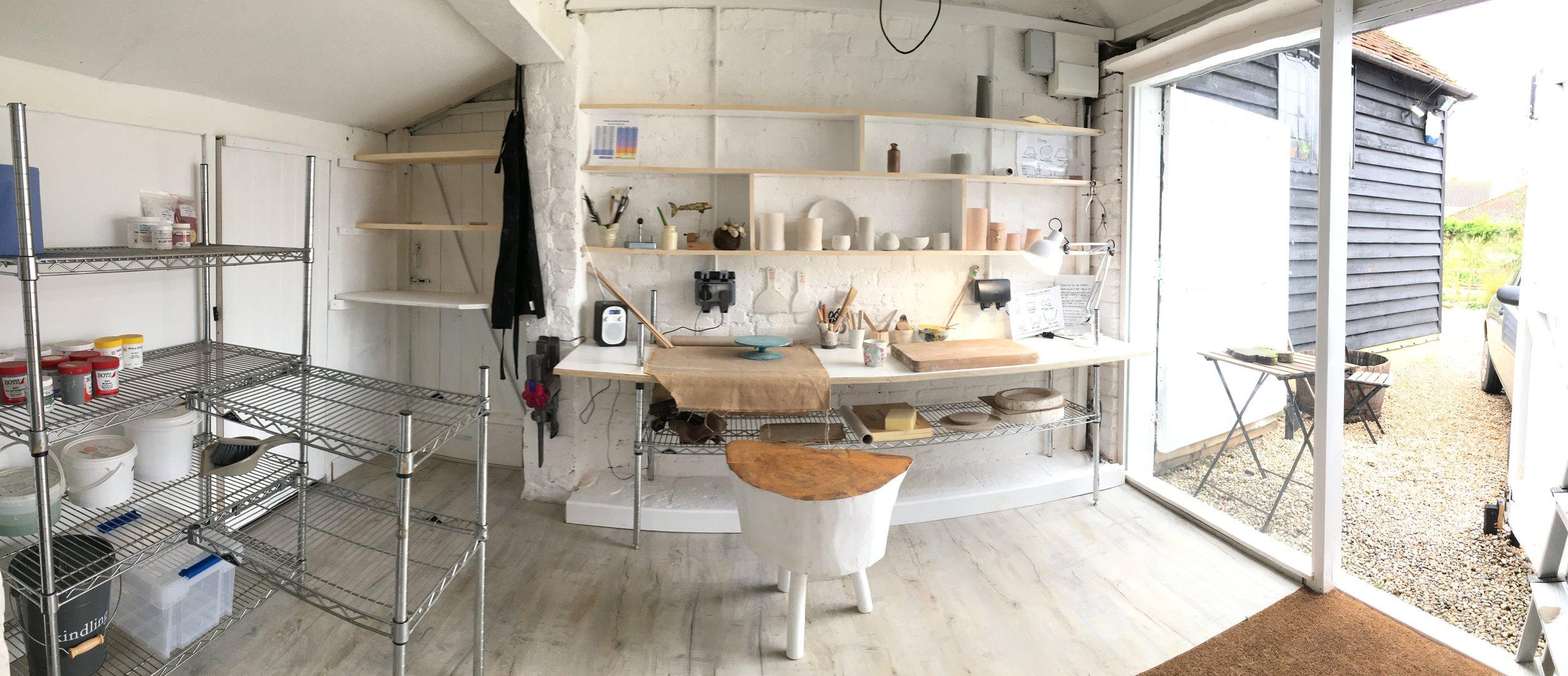 Pristine new studio…..